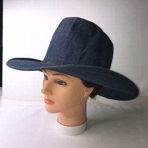 Vintage Denim Miller Bros Westerns Cowboy Hat 7.5